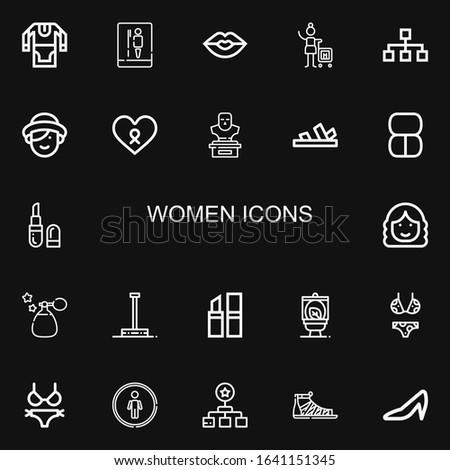 editable 22 women icons for web