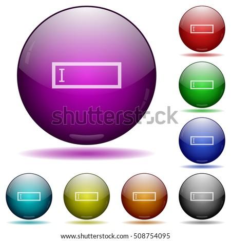 editbox color glass sphere