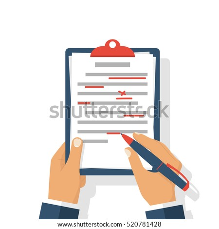 editing documents to correct