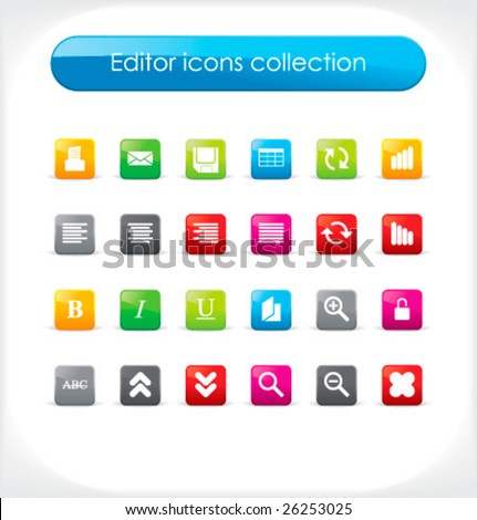 image editor icon. stock vector : Editor icons collection. Vector. Look at other icon