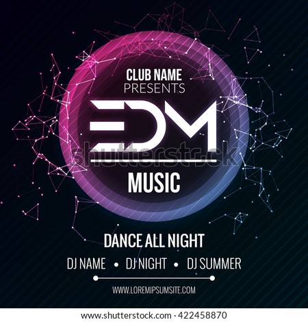 edm club music party template