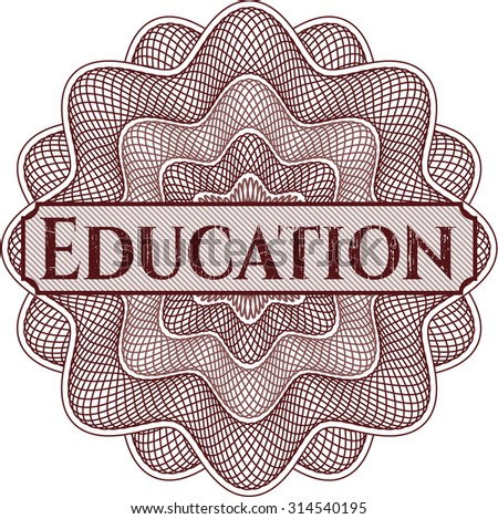 Education abstract rosette