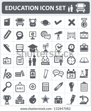 Education and science sign,icon set,vector