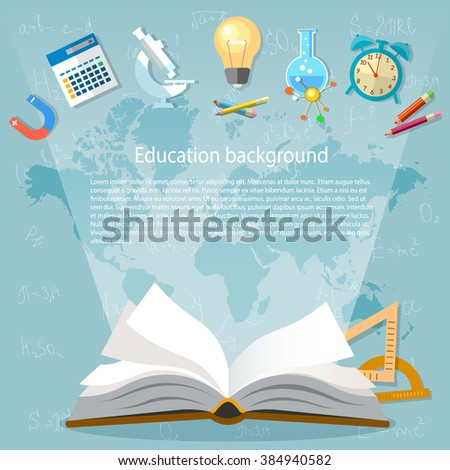 education background open book