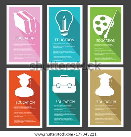 Education banner,vector