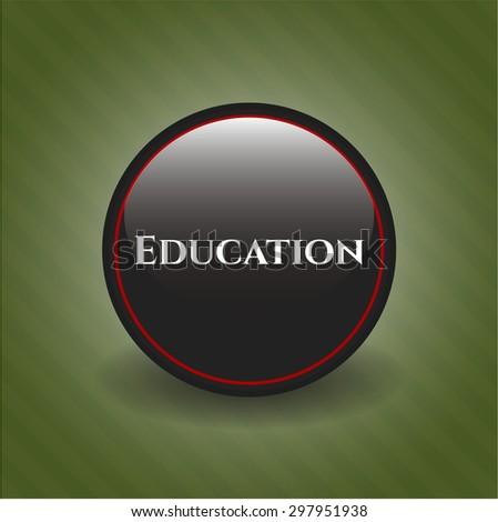 Education black emblem