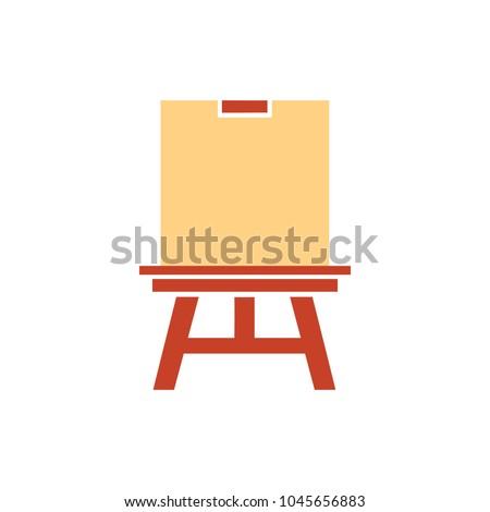 education board icon, school chalk board illustration, drawing symbol