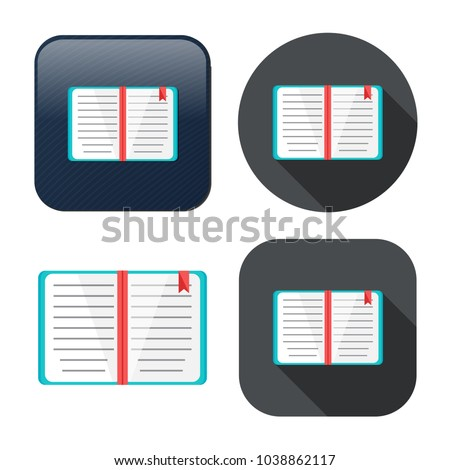 education book icon - library or bookstore icon - vector literature symbol