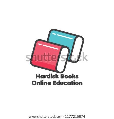 education books or hard disk symbol vector