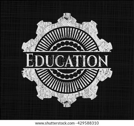 Education chalk emblem