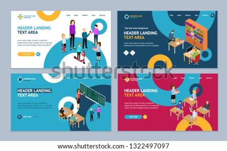 education concept landing web