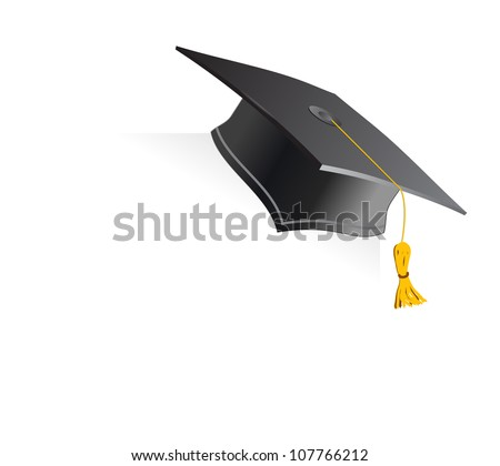 Education Cup on White Background. Vector Illustration.
