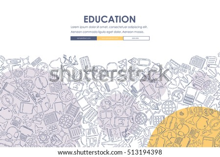 education Doodle Website Template Design