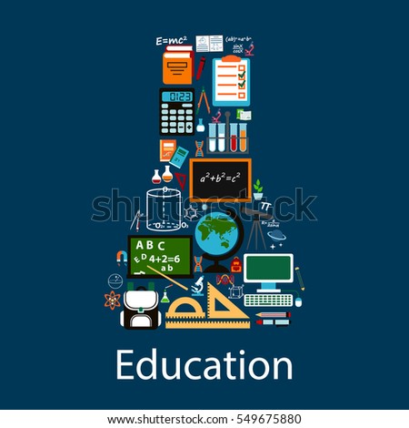 education emblem in shape of