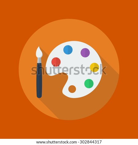 education flat icon with long