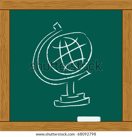 Education Globe. map