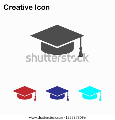 Education. Graduation icon vector