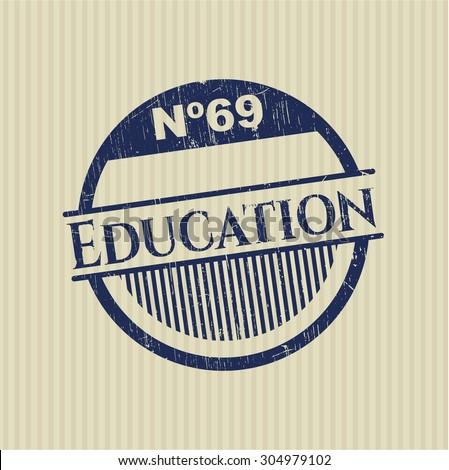 Education grunge seal