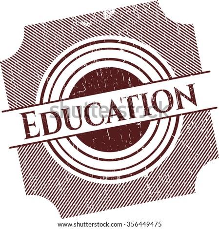 Education grunge stamp
