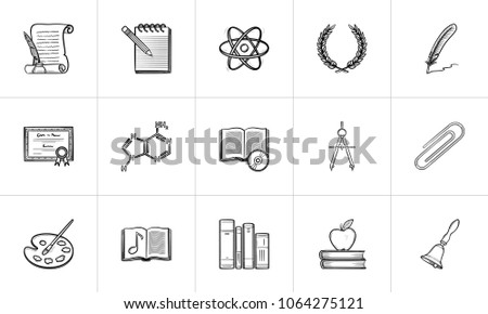 education hand drawn outline