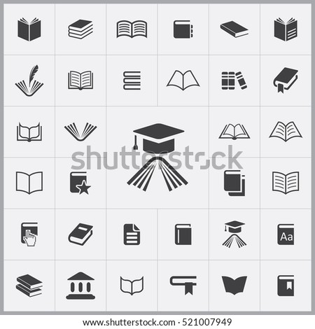 education icon. books icons universal set for web and mobile