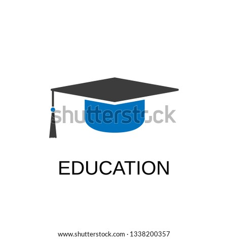 Education icon. Education concept symbol design. Stock - Vector illustration can be used for web