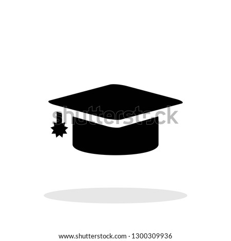 Education icon in flat style. Graduation symbol for your web site design, logo, app, UI Vector EPS 10.
