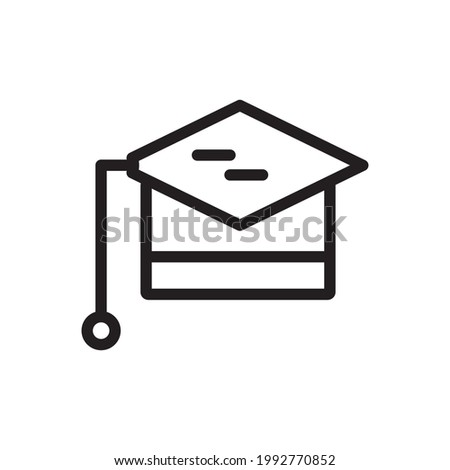 education icon or logo vector illustration of isolated sign symbol, vector illustration with high quality black outline.