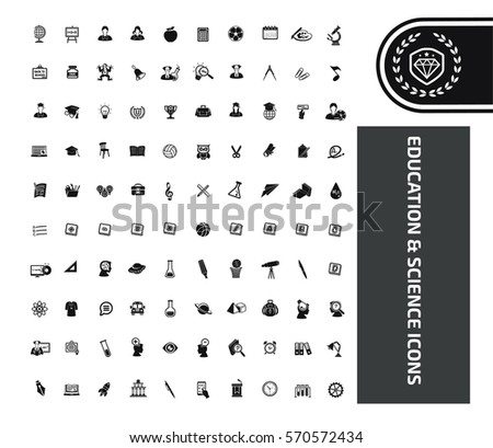 Education icon set,clean vector