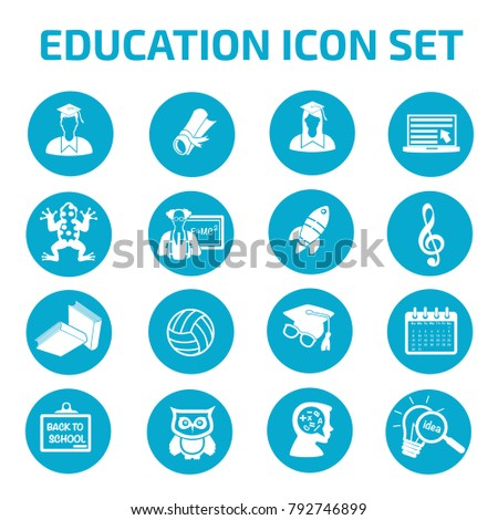 Education icon set design