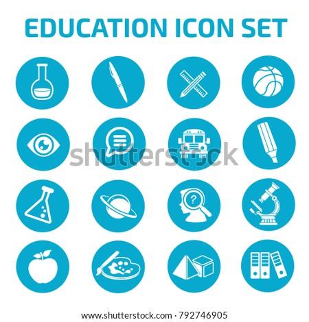 Education icon set design