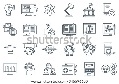 education icon set suitable for