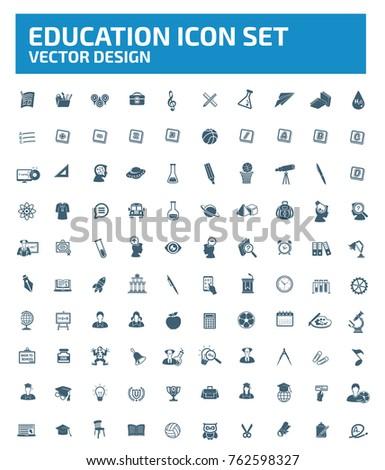 Education icon set,vector