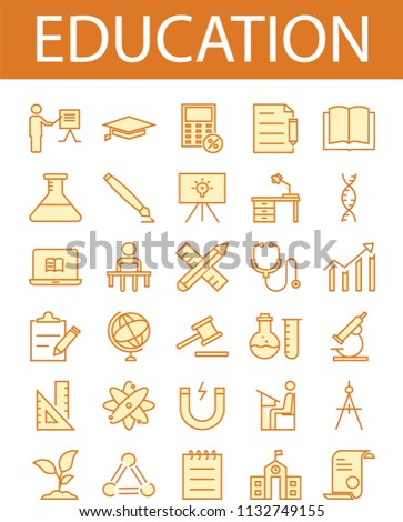 Education icons and vectors