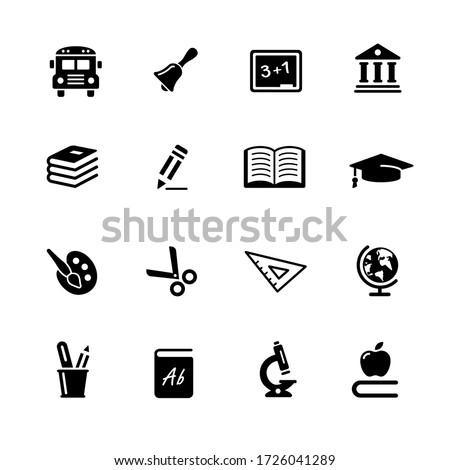 Education Icons  // Black Series