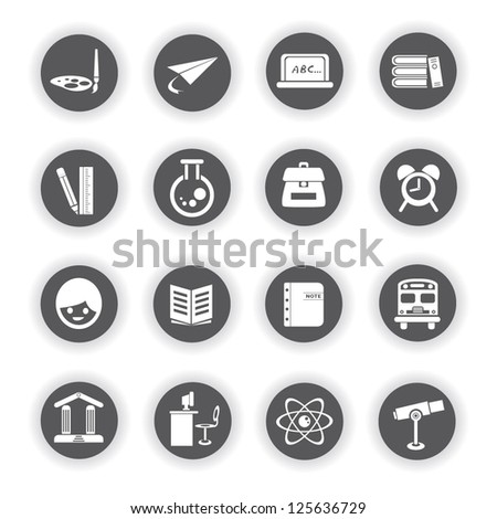 education icons buttons