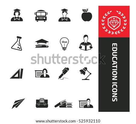 Education icons,clean vector