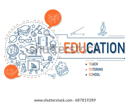 Education icons collection illustration design.vector