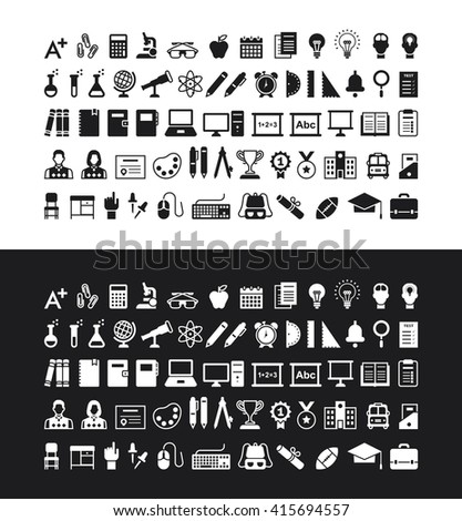 Education icons. EPS 10