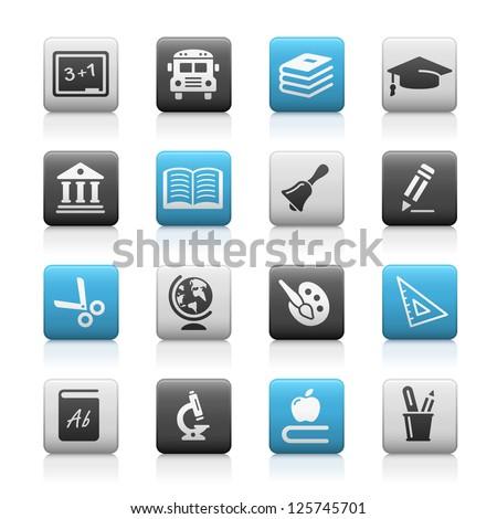 Education Icons // Matte Series