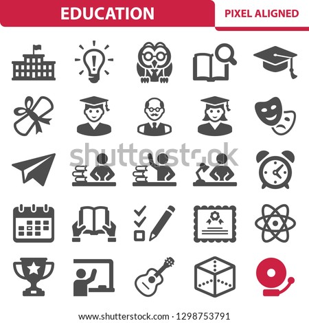 Education Icons. Professional, pixel perfect icons, EPS 10 format.