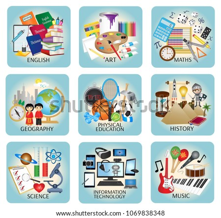 education icons   school...