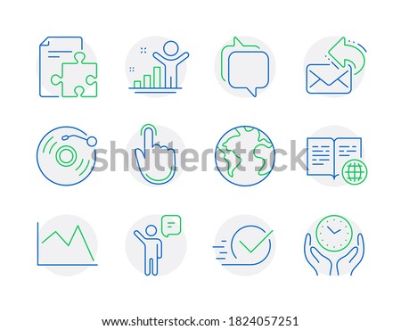 education icons set included