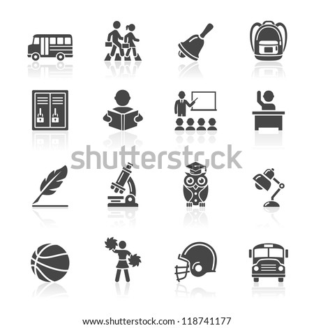 Education Icons set 3. Vector Illustration. More icons in my portfolio.