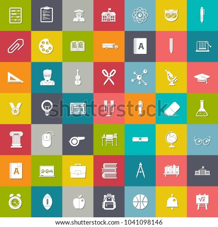 education Icons, study book icons, learning sign, university symbol, school icons