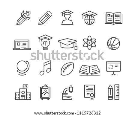 Education icons ,Vector