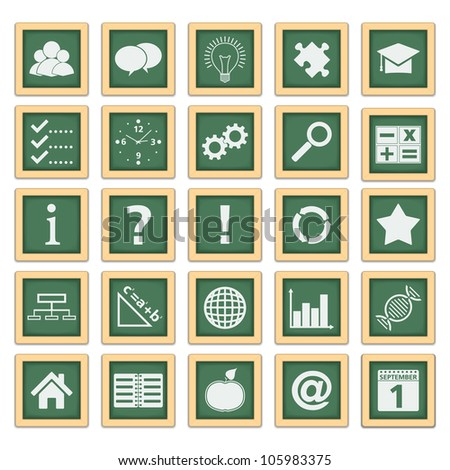 Education Icons, vector eps10 illustration