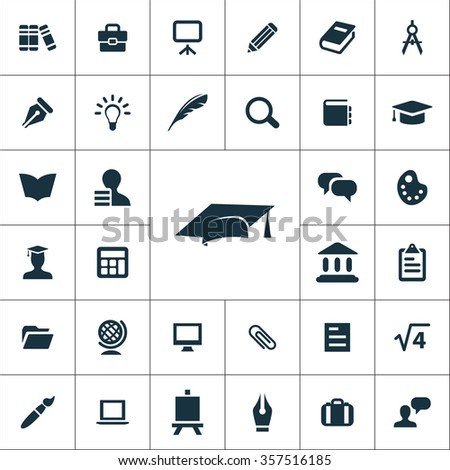 education Icons Vector set