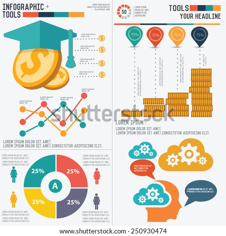 education info graphic design
