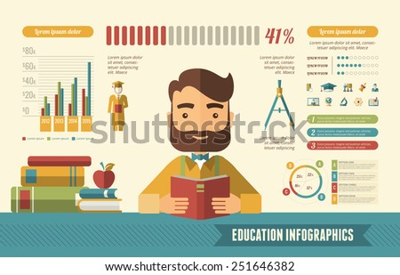 Education Infographic Elements. - stock vector